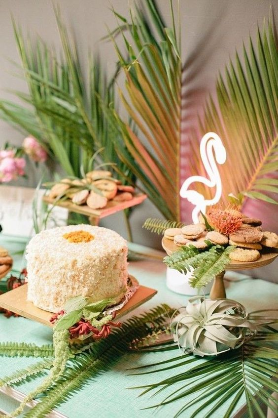 Wedding Planner Alicante, Elche y Murcia. Decoración de bodas. Ideas para una boda tropical. Organización de bodas. Candy bar tropical.