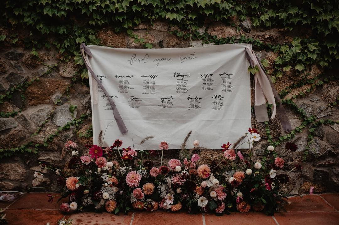 5 ideas de seating plan para boda. Wedding planner Alicante. Organización de boda en Alicante. Decoración de bodas.